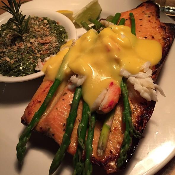 Maple Infused Cedar Plank Baked Idaho Ruby Trout - Grub Steak Restaurant, Park City, UT