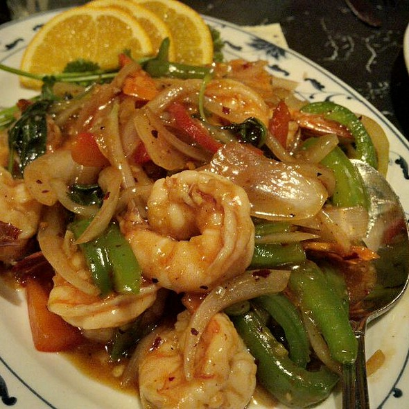 Basil Shrimp @ Lemon Grass Thai Restaurant