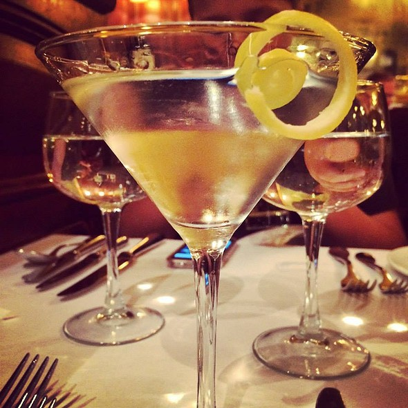 Vodka Martini Straight Up with a Twist - Orsay, New York, NY