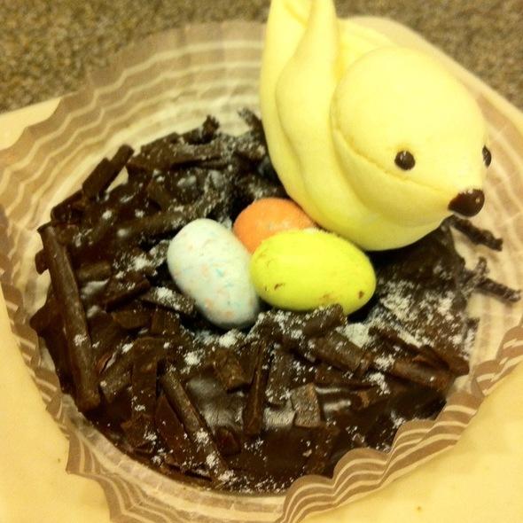 Easter Bird Nest Chocolate Mousse - Praline Bakery & Bistro, Bethesda, MD