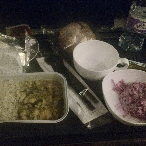 Sweet Potato Curry @ British Airways Flight Ba0043