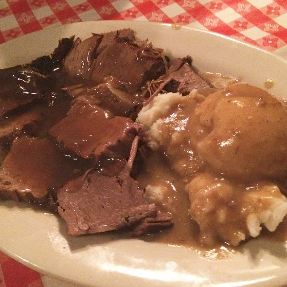 Brisket Over Mashed Potatoes And Gravy