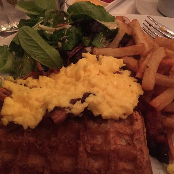 Bacon,Eggs,Taters,Belgium Waffle  - B. Cafe West, New York, NY