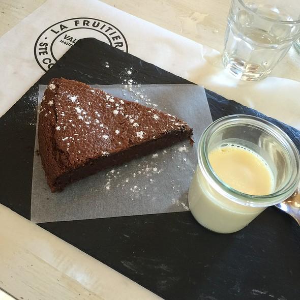 Moelleux Au Chocolat @ Restaurant La Fruitière