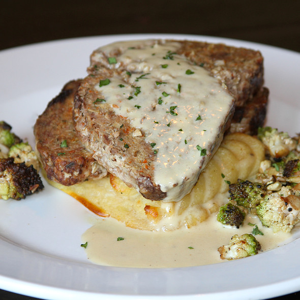 Braised Meatloaf - Il Villaggio Osteria, Teton Village, WY