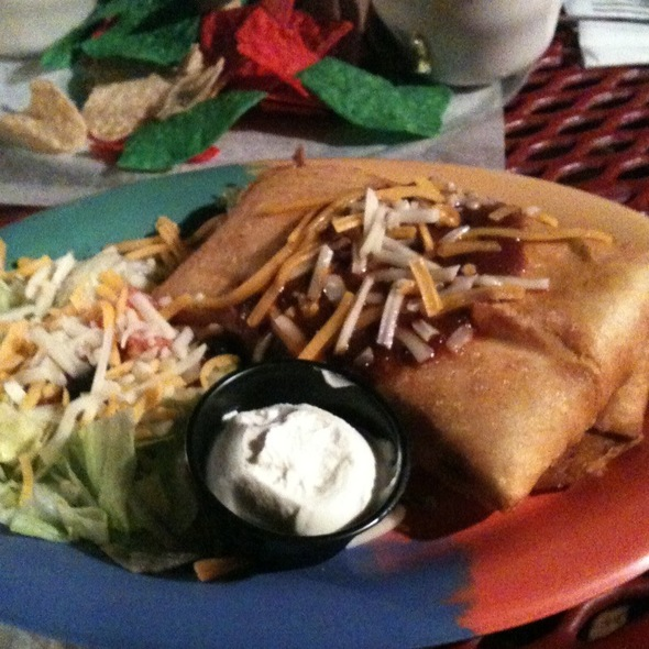 Chicken Chimichunga @ Vip Lounge & Mexican Restaurant