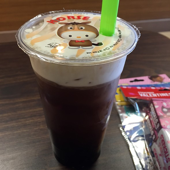 Black Tea Sea Salt Crema With Tapioca @ Cafe Tapioca