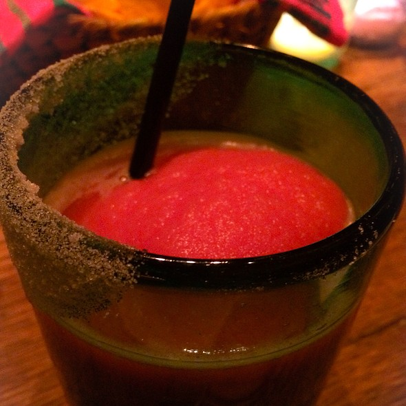 Frozen Blood Orange Margarita @ El Vez
