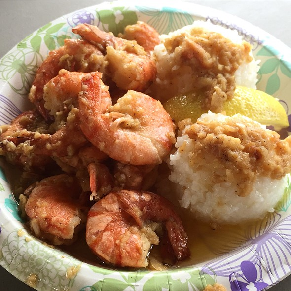 Shrimp Scampi Plate @ Giovanni's Shrimp Truck