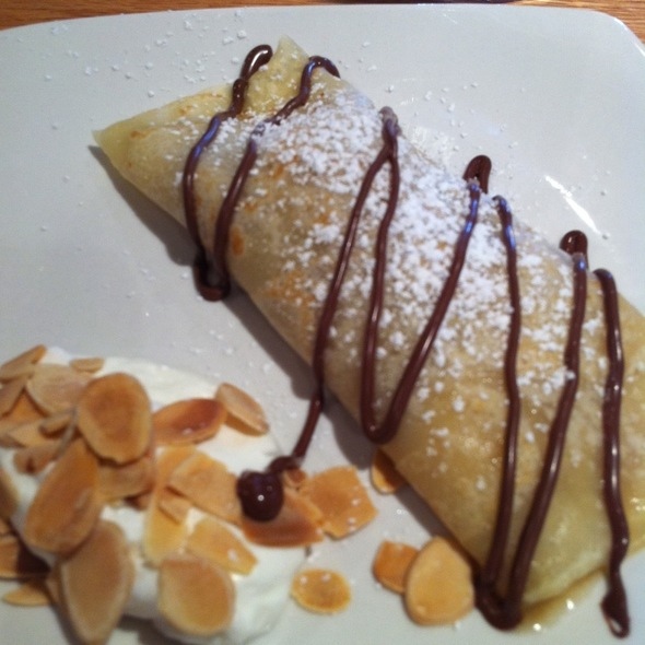 Banana And Nutella Crepe With Banana Walnut Gelato @ Apache Trout Grill