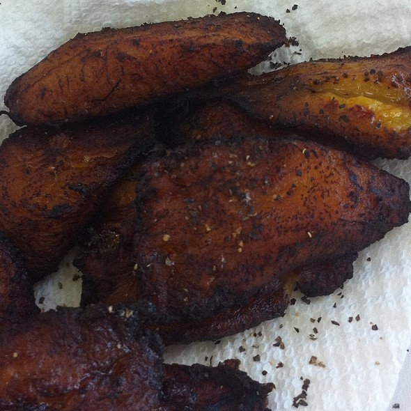 Fried Plantains @ Nicole's Brewers Bay Beach Bar