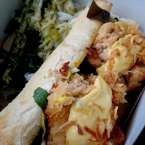 Crab Cake Baguette @ The Fish Counter