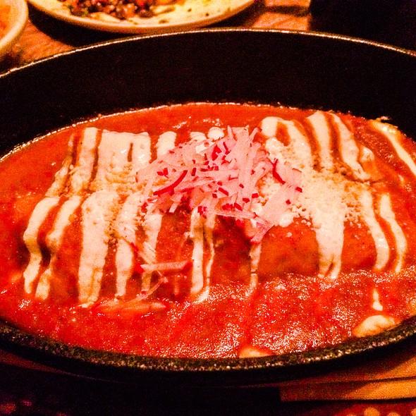 Chicken Enchilada - Salsa Roja, Habeñero, Crema & Fresco @ El Vez