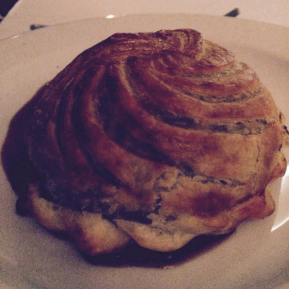 Duck And Pinot Noir Pie With Melted Brie Under Puff Pastry Crust @ Claire's Kitchen At Le Salon
