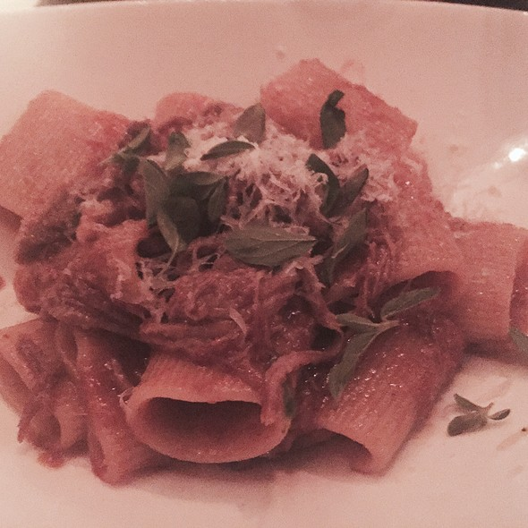 Rigatoni With Duck Ragu - A Voce Columbus, New York, NY