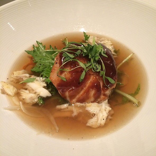 "Hoisin ""Visiting Fish"" With Pho Broth & Crab Meat @ Restaurant R'evolution"