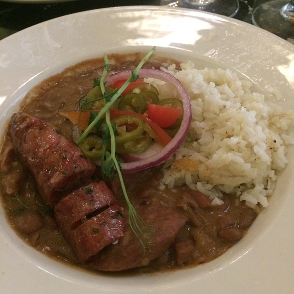 Alligator Sausage With Pork Red Beans And Rice @ Palace Cafe