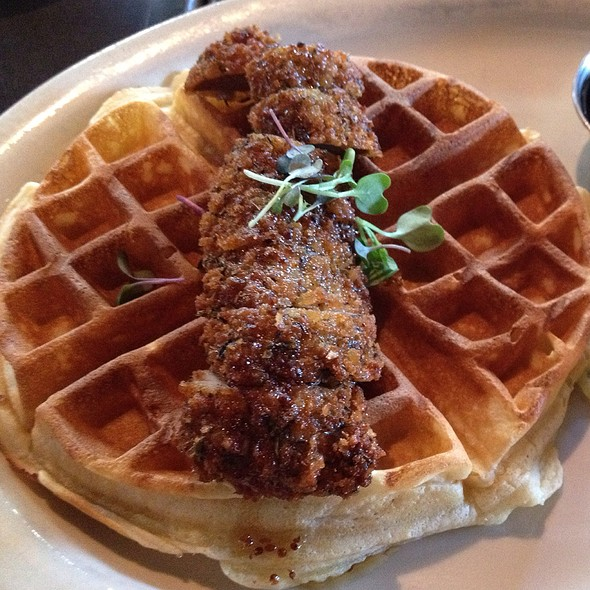 Fried Duck And Waffles @ B. Matthews
