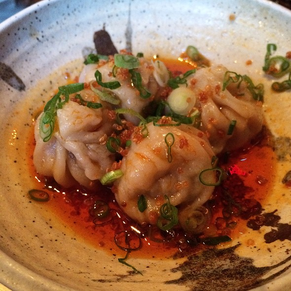 Beef Sesame Dumplings In Chili Oil @ Cheu Noodle Bar