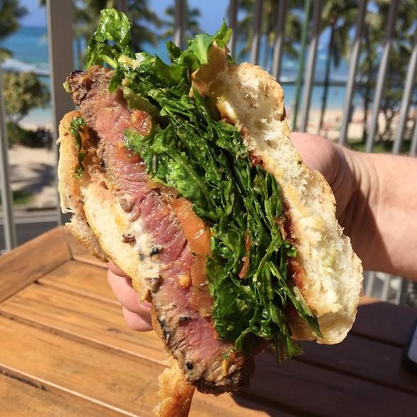 Grilled Ny Steak Sandwich - Tiki's Grill & Bar - Waikiki, Honolulu, HI
