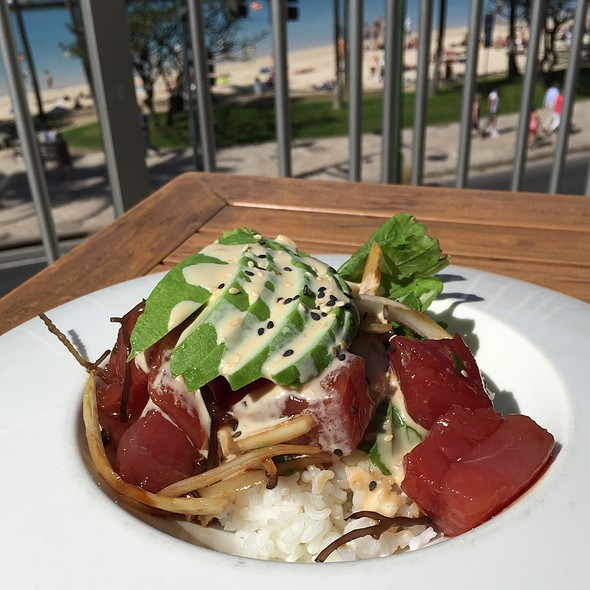 Ahi Poke Rice Bowl With Avocado - Tiki's Grill & Bar - Waikiki, Honolulu, HI