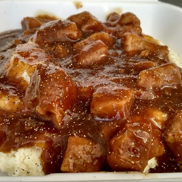 Tenderloin Tips On Mashed Potatoes  @ Boda's