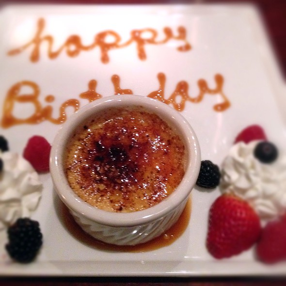 Happy Birthday Creme Brulee - Firefly American Bistro, Manchester, NH