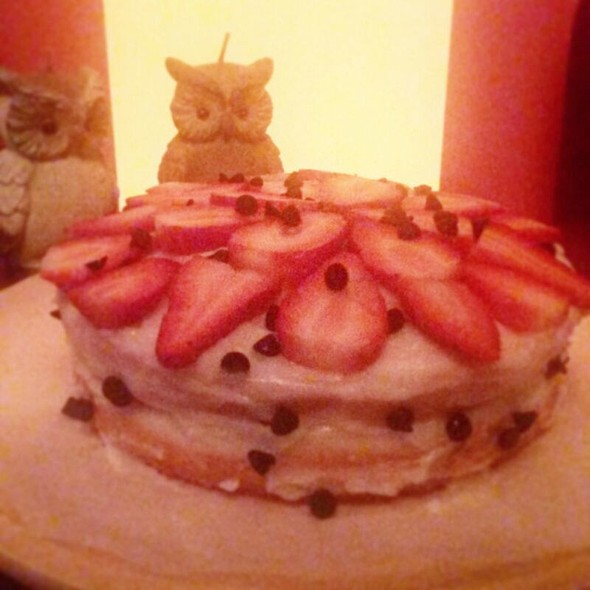 Çikolatalı Çilekli Pasta @ At Esin's Home