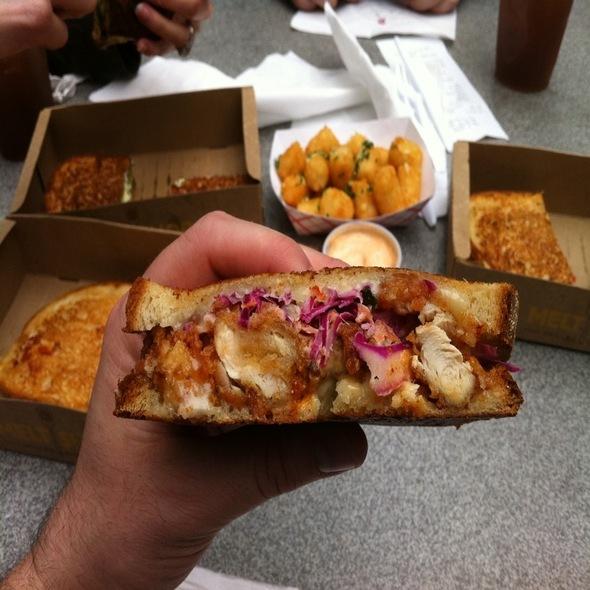 Buttermilk-Fried Chicken Grilled Cheese @ Melt Shop Nyc