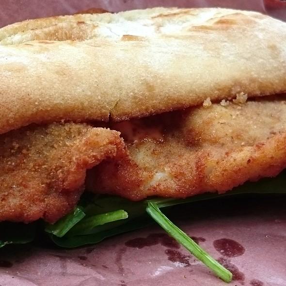 Pork Schnitzel Sandwich @  K&J Food Truck