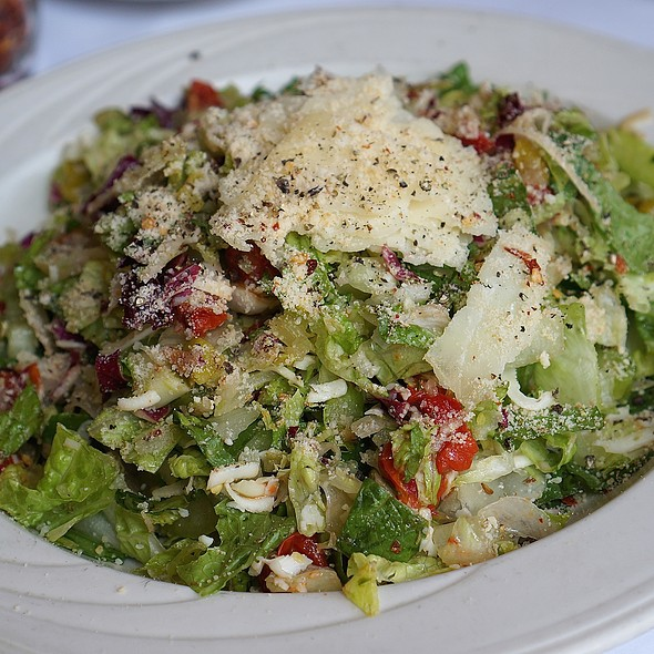 Italian salad, peppers, provolone, celery, tomatoes, fennel, parmesan - Frankie's Pizzeria & Scaloppine, Chicago, IL