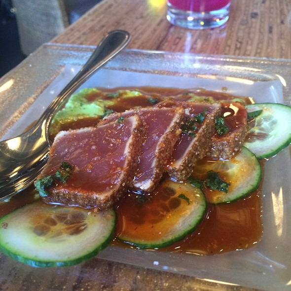 Charred Rare Ahi, Cucumber, Avocado, And Truffled Soy - Willi's Seafood & Raw Bar, Healdsburg, CA