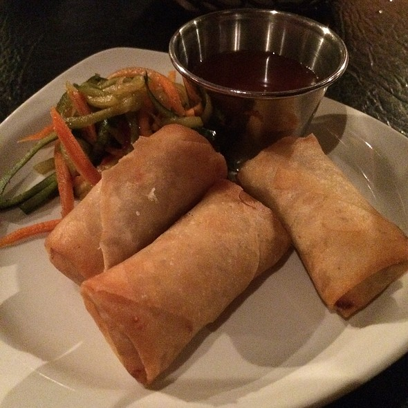 Vegetable Spring Rolls With Cucumber Salad - Margaux's Restaurant, Raleigh, NC