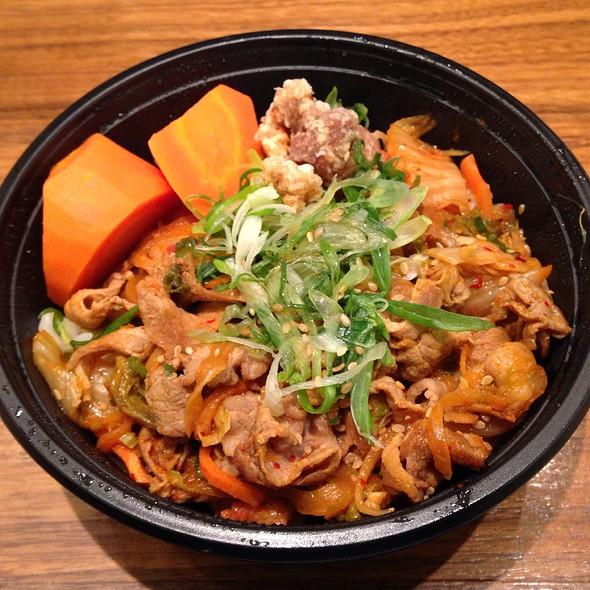 Buta Kimchi Donburi at Katsu-Hama
