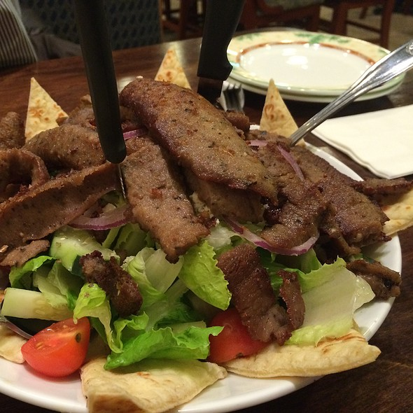 Gyro Salad @ Delia's Pizzeria and Grille of Springfield