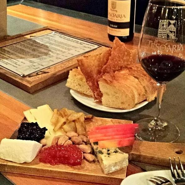 Wine Bar And Cheese Plate @ TeSoAria Tasting Room