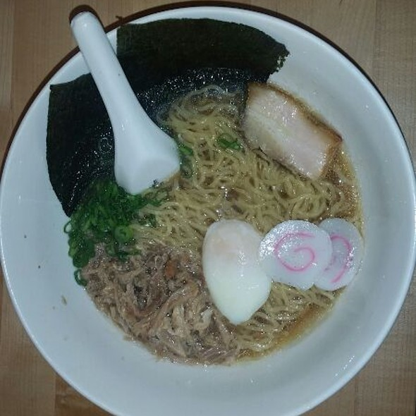 Momofuku Ramen - Pork Belly, Pork Shoulder & Poached Egg.  @ Momofuku Noodle Bar