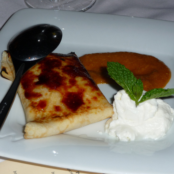 Creme Brulee Crepe @ La Cote Brasserie Restaurant