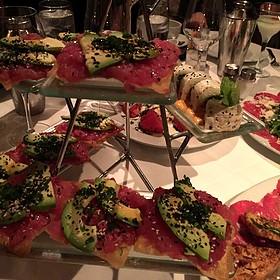 Tuna Tostada/Veggie Roll - Mastro's Steakhouse - Chicago, Chicago, IL