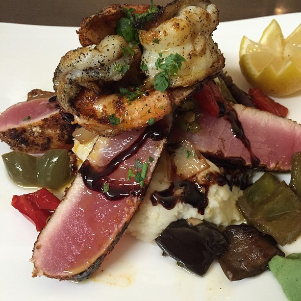Blackened Tuna And Shrimp Special - Luciano's, Wrentham, MA