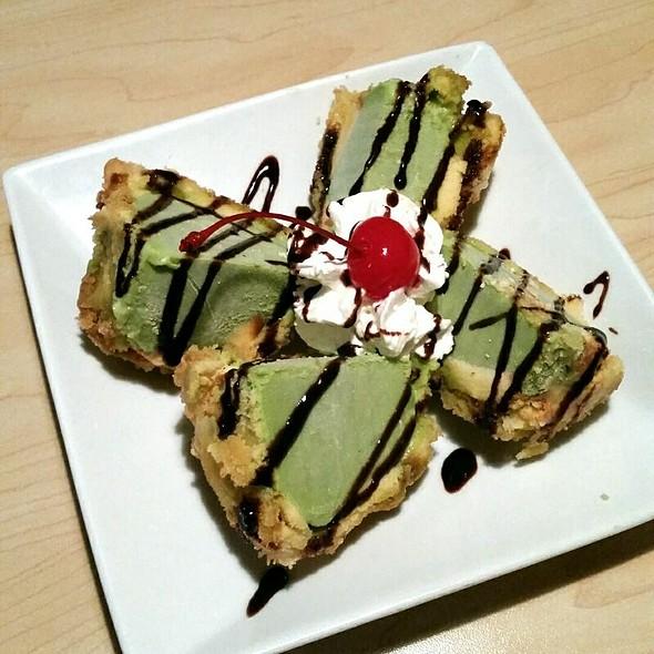 Fried Green Tea Ice Cream @ Yamato Japanese Restaurant