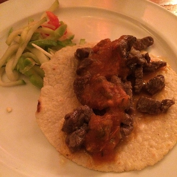 Carne Asada Taco With Chayote Salad - Dos Perros, Durham, NC