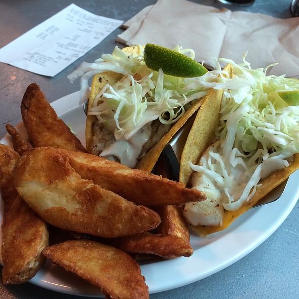 Baja Fish Tacos And Wedge Fries
