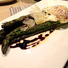 Asparagus With Slow Cooked Egg