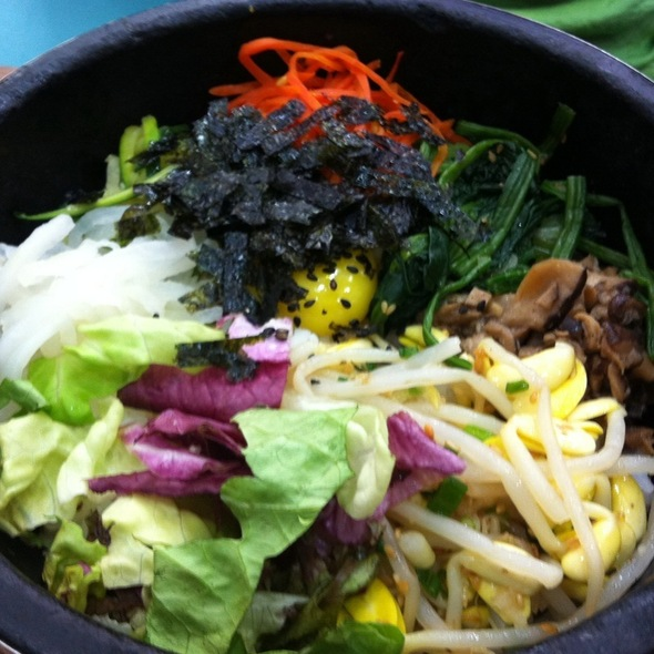 Mixed Vegetables Bibimbap @ Ju Shin Jung Korean Charcoal Bbq (West Coast)