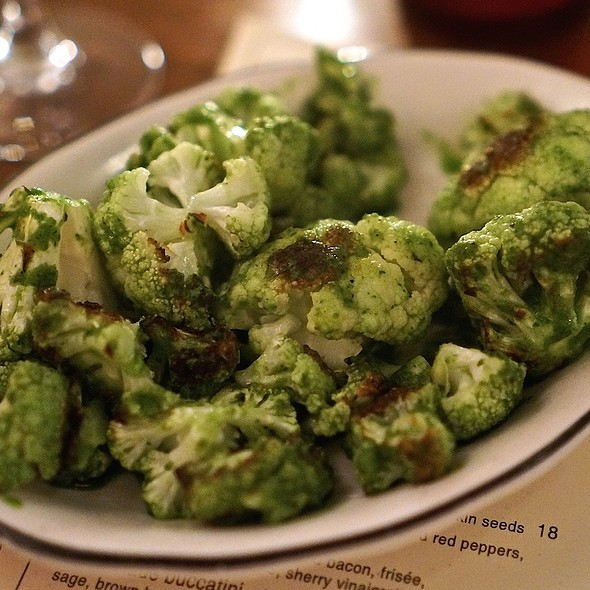 Wood Roasted Cauliflower with Parsley Sauce @ Michael's Genuine Food & Drink
