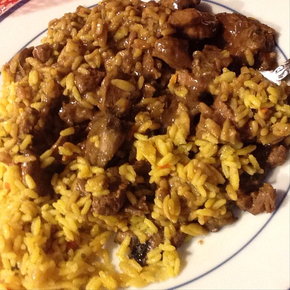 how to make beef tips and rice with brown gravy