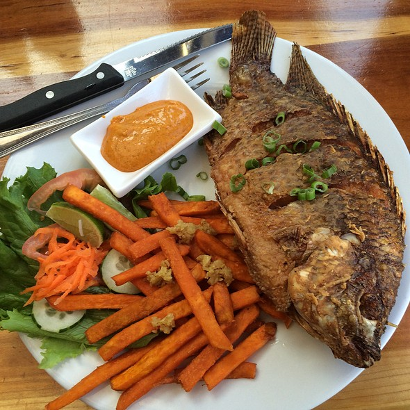 Fried Tilapia With Garlic Sweet Potatoes Fries