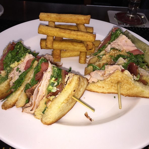 Turkey Club Sandwich With Chickpea Fries