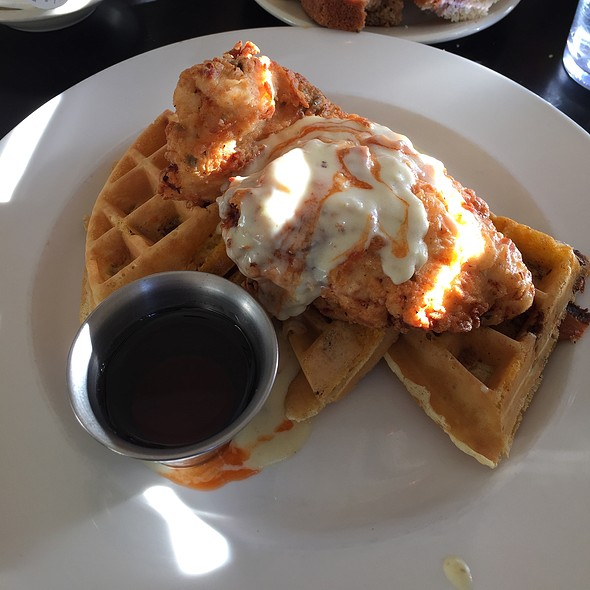 Chicken and Waffles @ Bread Winners Cafe